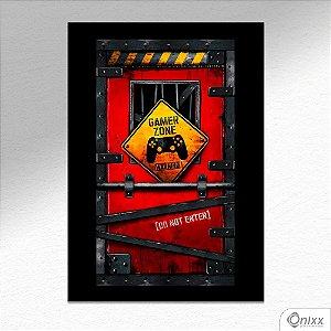 Placa Decorativa Game Zone A4