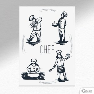 Placa Decorativa Chef A4