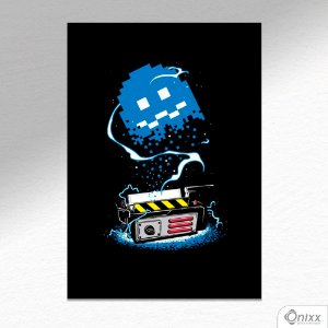 Placa Decorativa Pacman Ghostbusters A4