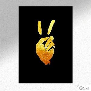 Placa Decorativa Paz E Amor A4