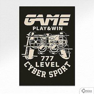 Placa Decorativa Game Play & Win A4