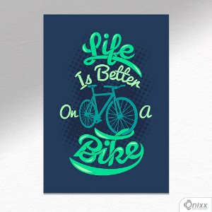 Placa Decorativa Bike Is Life A4