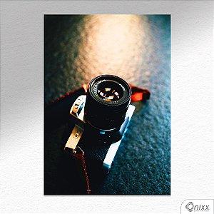 Placa Decorativa Máquina Fotográfica A4