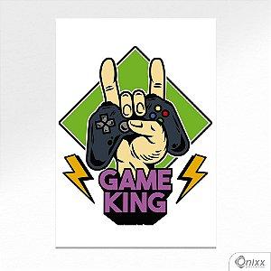 Placa Decorativa Game King A4