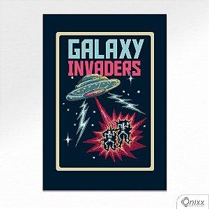 Placa Decorativa Galaxy Invaders A4