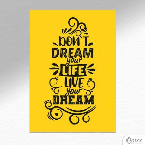 Placa Decorativa Live Your Dream A4