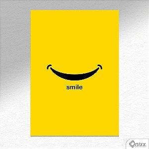 Placa Decorativa Smile A4
