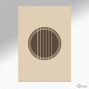 Placa Decorativa Guittar Minimalistic A4