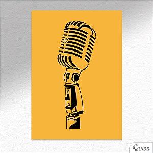 Placa Decorativa Série Sounds ( Mic ) A4