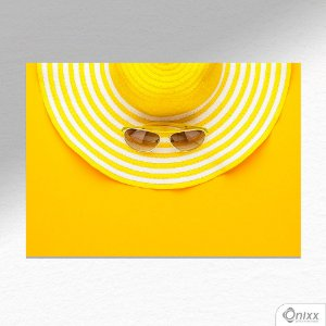 Placa Decorativa Yellow Vacation A4