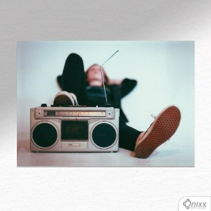 Placa Decorativa Relax And Listen A4