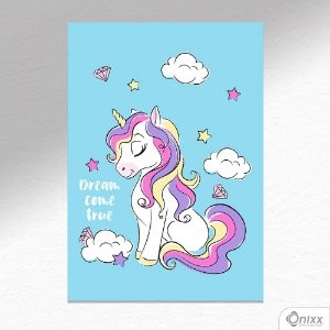 Placa Decorativa Unicorn Dream A4