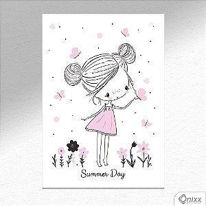 Placa Decorativa Sweet Girl Summer Day A4