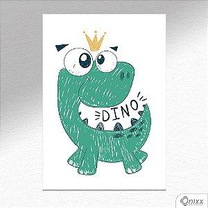 Placa Decorativa Dino Ilustrado A4