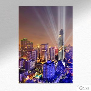 Placa Decorativa Bankok Modern Buildings A4