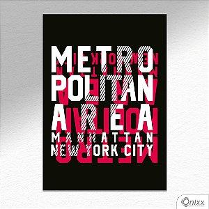 Placa Decorativa Metropolitan NY A4