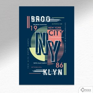 Placa Decorativa Brooklin  NY A4