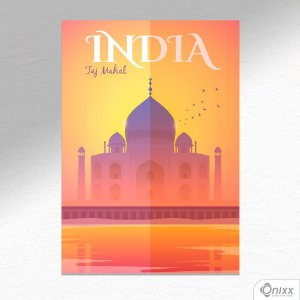 Placa Decorativa Série Poster India A4
