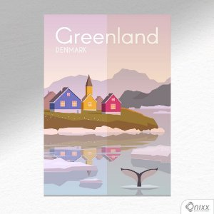 Placa Decorativa Série Poster Greenland A4