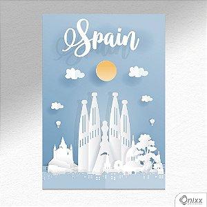 Placa Decorativa Série Papercut Spain A4