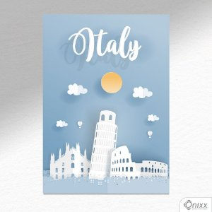 Placa Decorativa Série Papercut Italy A4