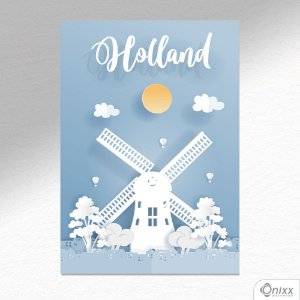 Placa Decorativa Série Papercut Holland A4