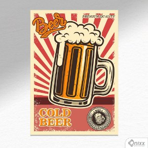 Placa Decorativa Cold Beer A4
