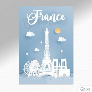 Placa Decorativa Série Papercut France A4
