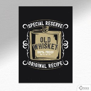 Placa Decorativa Old Whiskey A4