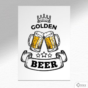 Placa Decorativa Golden Beer A4