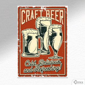 Placa Decorativa Craft Beer A4