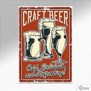 Placa Decorativa Craft Beer A4