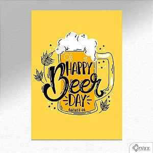 Placa Decorativa Happy Beer Day A4