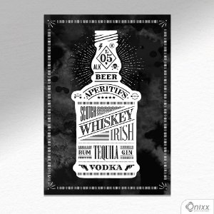 Placa Decorativa Scotch Whiskey Irish A4