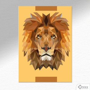 Placa Decorativa Lion A4