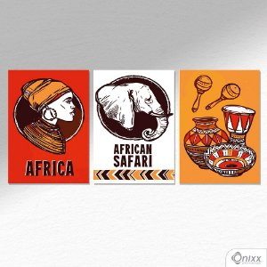 Kit de Placas Decorativas African Safari A4