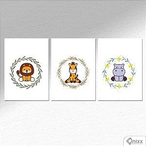 Kit de Placas Decorativas Animals A4