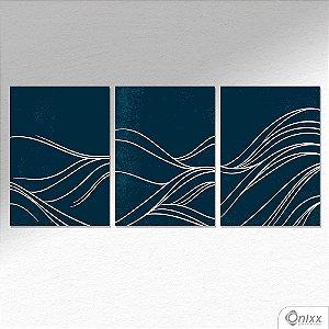 Kit de Placas Decorativas Blue Wave A4