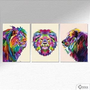 Kit de Placas Decorativas Lions A4