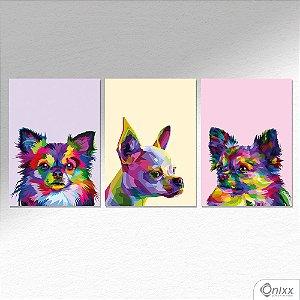 Kit de Placas Decorativas Chihuahua A4