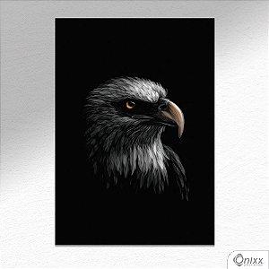 Placa Decorativa Série Animais Black ( Águia ) A4