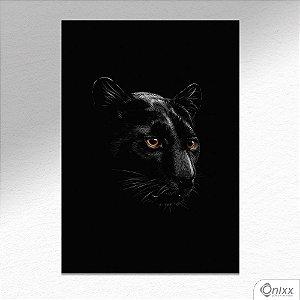 Placa Decorativa Série Animais Black ( Pantera ) A4