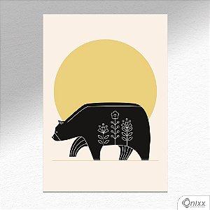 Placa Decorativa Série Natureza Artística ( Bear ) A4