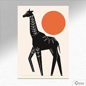 Placa Decorativa Série Natureza Artística ( Giraffe ) A4