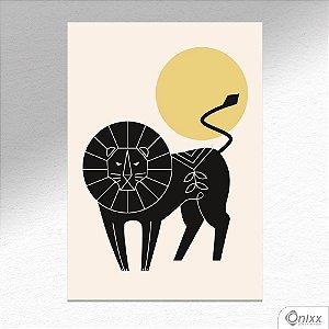 Placa Decorativa Série Natureza Artística ( Lion ) A4