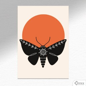 Placa Decorativa Série Natureza Artística ( Moth ) A4