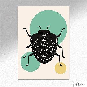 Placa Decorativa Série Natureza Artística ( Scarab ) A4