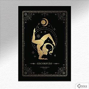 Placa Decorativa Série Zodíaco ( Escorpião ) A4