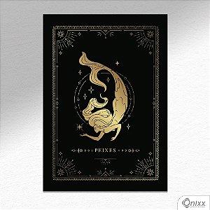 Placa Decorativa Série Zodíaco ( Peixes ) A4