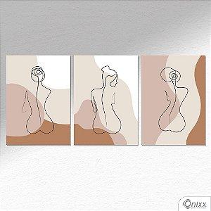 Kit de Placas Decorativas Feminine Body  A4